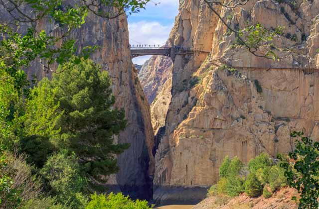 Rent a car with Malaga All Included Car Hire and visit Caminito del Rey, walking over the bridge